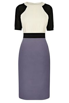 Master the colour block mood with Bastyans Daria Mixed Dress. The ruched back and highlighted waistband make this dress very flattering and versatile for day to night wear. Team with your favourite heels.