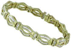 4.00ct Diamond Gold Bracelet