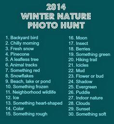 2014 Winter Nature Photo Hunt