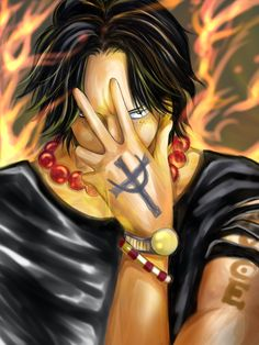 Ace one piece One Piece 1, Zoro One Piece, One Piece Fanart, One Piece Anime, Black Background Wallpaper, Black Backgrounds, One Piece English, Ace Sabo Luffy, Nico Robin