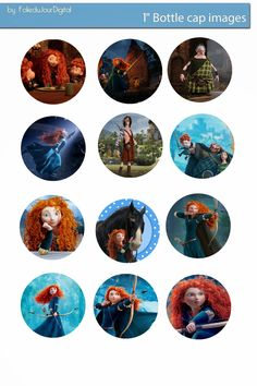 I& sharing free digital bottle cap images I created Bottle Cap Art, Bottle Cap Crafts, Bottle Cap Images, Princesa Merida Disney, Disney Cake Toppers, Cupcake Toppers, Bow Image, Fairy Coloring, Doll Party