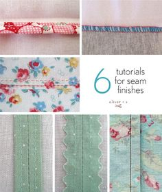 six tutorials for seam finishes