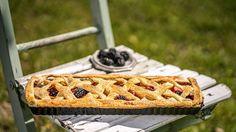 mřížkový koláč s ostružinami Waffles, Cheesecake, Treats, Breakfast, Sweet, Food, Cakes, Sweet Like Candy, Morning Coffee