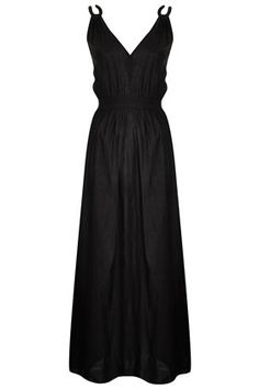 Black Grecian Maxi Cover Up from TopShop - Easy for the beach!