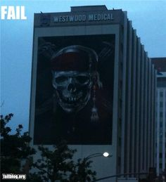 hospital may not be the best place to advertise for pirates of the Caribbean