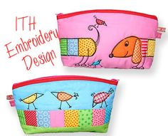 Big Hotdog Bag ITH - Machine Embroidery Design via Etsy