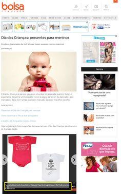 Dois produtos da Elo7 foram publicados no Portal Bolsa de Mulher, como sugestões de presente para o Dia das Crianças.