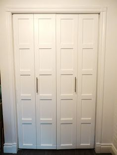 shaker bifold doors | My DIY 5 Panel Shaker-style bi-fold closet doors for about $30 each ...