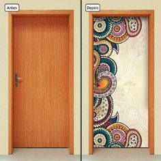 Door Murals, Mural Wall Art, Diy Wall Art, Wall Art Sets, Wall Painting Decor, Wall Decor, Door Design, Wall Design, Indian Room Decor
