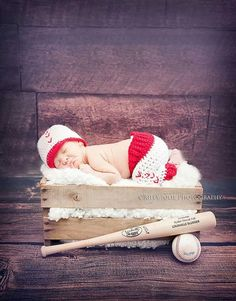 newborn baseball prop set, baseball hat, baby baseball set, crochet baseball set on Etsy, $32.00