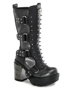 "Women's ""Sinister 202"" Vegan Boots by Demonia (Black)"