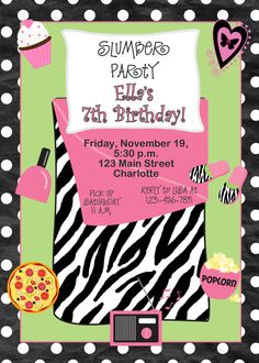 Slumber Party Invites