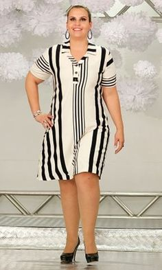 Vestido Plus Size 98 Vestidos Plus Size, Plus Size Dresses, Plus Size Outfits, African Fashion Dresses, African Dress, Fashion Outfits, Dress Fashion, Plus Size Fashionista, Casual Dresses
