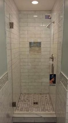 Shower ideas... Maybe 1/2 the glass door...idk