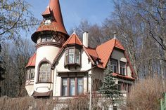 Storybook tudor house