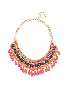 Bershka Slovenia - Multi-thread ethnic necklace