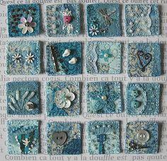 Inchies16 Aqua (Boxoftrix) Tags: blue beads aqua embroidery buttons embellished inchies