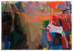 Brian Rutenberg. Low Dense, 2010, oil on linen, 63 x 158 inches. Just fabulous work