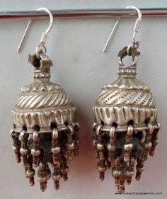 vintage Rajasthani silver earrings