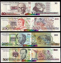 Brazil banknotes - Brazil paper money catalog and Brazilian currency history Illuminati Facts, Money Notes, Financial Literacy, Brazil, Nostalgia, Coins, World, Vintage, Sell Coins