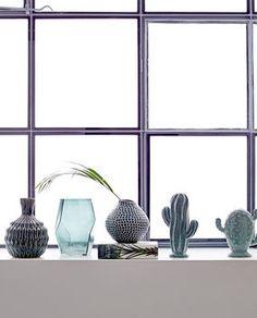 Vase Glas Prisma green