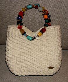 NEW! Cappelli Straw Toyo Bead Handbag Bag Purse Colorful Ring Handle Zipper Top
