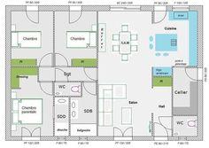 Aide pour aménagement plan maison de 95.77 m² (39 messages) - Page 3 - ForumConstruire.com
