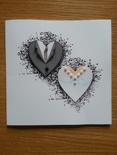 Such a pretty wedding card!