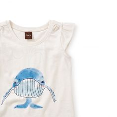 Blue Whale Graphic Tee   The great blue whale is a mighty sea mammal that lives in the waters of Australia. This tee features a friendly one.
