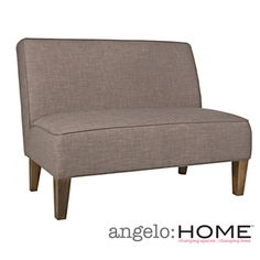 @Overstock - The angelo:HOME Dover armless settee was designed by Angelo Surmelis. The Dover settee is covered in a linen-like textured fabric in smoke gray.http://www.overstock.com/Home-Garden/angelo-HOME-Dover-Smoke-Gray-Sand-Armless-Settee/7258522/product.html?CID=214117 $355.99