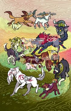 A Floating Island in the Sky — crocojaws: I drew the dogs from Okami cause I...