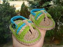 Topánočky - Žabky mini-Ďakujem zákazníčke za foto:-) - 2739354