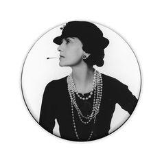 Coco Chanel (Man Ray Portrait) Pinback Button - found my halloween costume