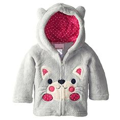 Check out the product reviews around Zhuannian Baby/ Toddler Girls Boys Animal Pattern Full-zip Fleece Hooded Jackets (2-3T, Light Grey)
