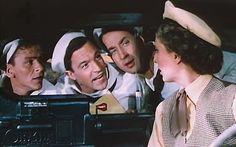 Frank Sinatra, Gene Kelly, Jules Munshin and Betty Garrett in On The Town