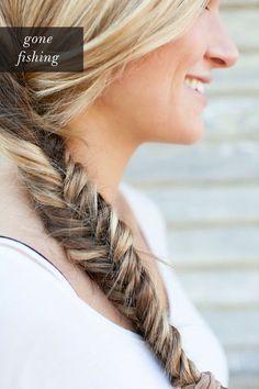 DIY: fishtail braid.
