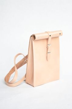 Roll Top Backpack Veg Tan by ChloeStanyon on Etsy