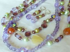 Purple Folly Necklace by Margica on Etsy