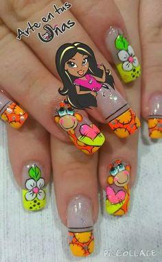 Sihara17 on pinterest nailart nail art and - Unas azules decoradas ...