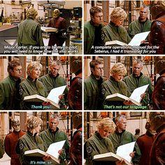 Haha! Jack! Lol....and Daniel always peering over her shoulder. Like Hey! A new language. I like languages...