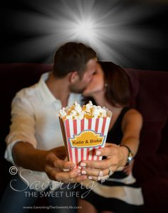 Engagement session at the movies!  Savoring The Sweet Life: The Movie Theatre Engagement of Katie and Blake: San Diego, Coronado Wedding, Engagement and Couples Photographer
