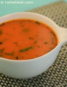 A lovely soup from Maharashtra made from tomatoes and coconut with a delicate touch of spices.