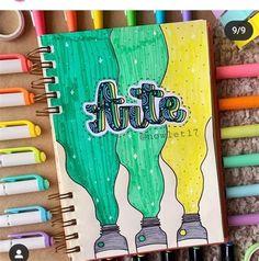 Bullet Journal Cover Ideas, Bullet Journal Notebook, Bullet Journal School, Bullet Journal Inspiration, Book Journal, Lettering Tutorial, Hand Lettering, School Book Covers, Bullet Journal Aesthetic