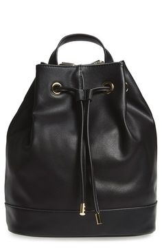 BP. Faux Leather Drawstring Backpack available at #Nordstrom