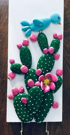Ayşe Gürsoy Diy Crafts Hacks, Diy Crafts Jewelry, Diy And Crafts, Rock Painting Patterns, Rock Painting Designs, Cactus Candles, Stone Plant, Plant Art, Stone Crafts