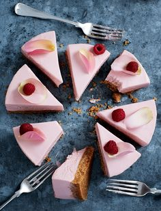 Prep Time: 25 Minutes | Setting Time: 2 HoursServes 8-12This is a cheesecake like no other. If you're wanting a treat to serve up this weekend, this refined raspberry and rose flavoured dessert will have everyone asking for an extra slice.