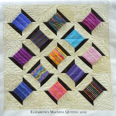Elizabeth's Machine Quilting, spool quilt.  Posted on April 5, 2012.