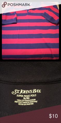 St. John's bay polo Mens xl polo from St. John's bay only worn two times great condition St. John's Bay Shirts Polos