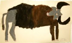 Hazuki Miyahara African buffalo (right) Two thousand and nine 310mm × 500 mm