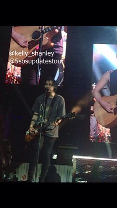5sos on stage in Dublin 5/29/15